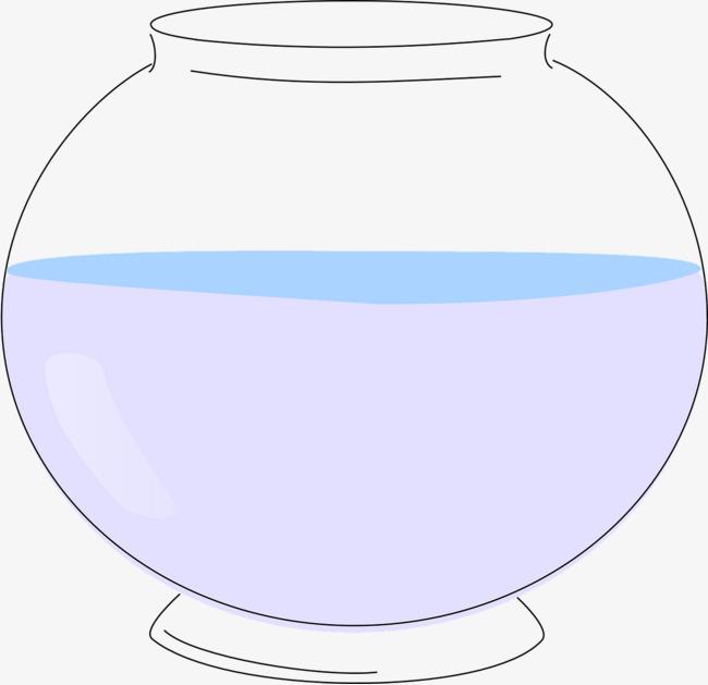 白色透明的鱼缸图片