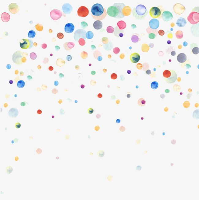 手绘小清新多彩泡泡