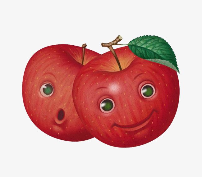 带表情的苹果图片