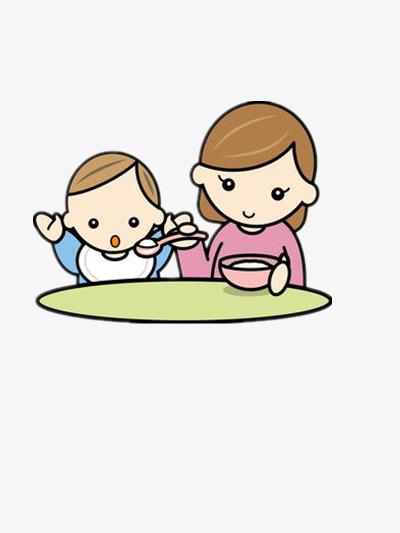 小孩 母爱 吃饭 素材 小孩喂饭             此素材是90设计网官方设
