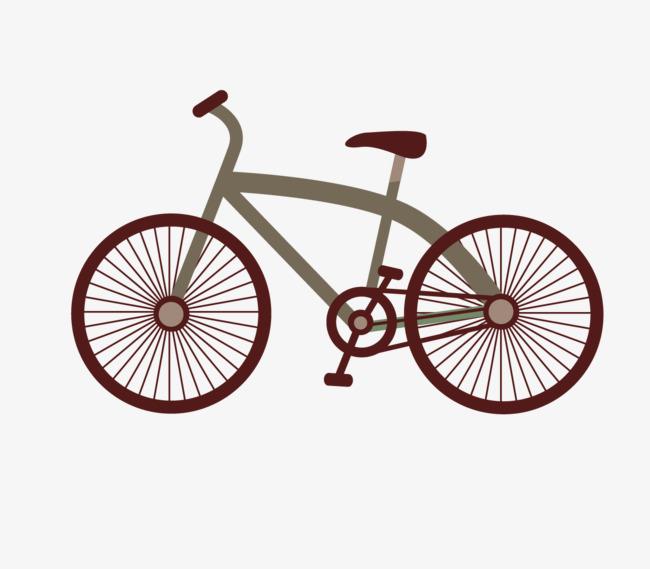 手绘自行车矢量素材