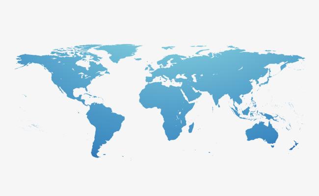矢量手绘世界地图