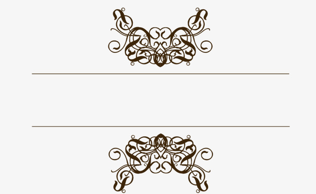 欧式金色边框花纹png素材-90设计
