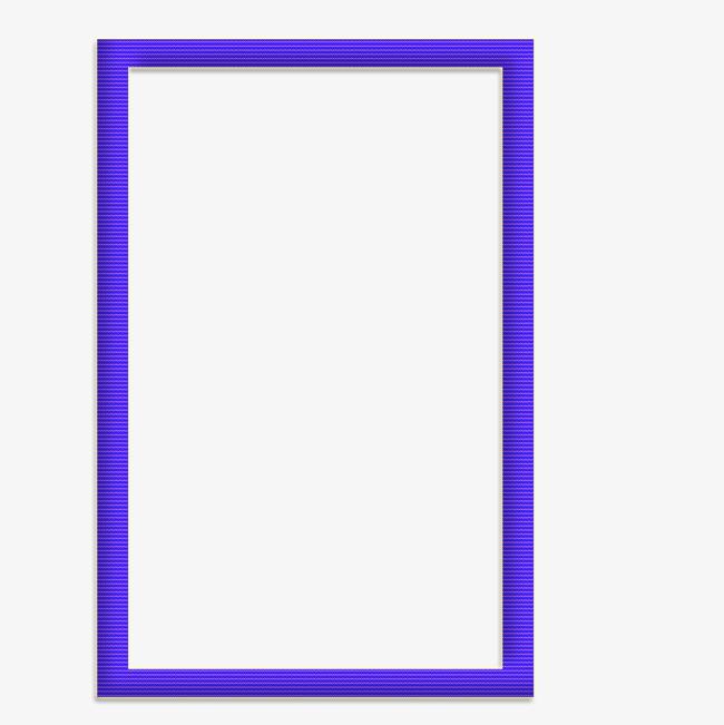 蓝色长方形相框