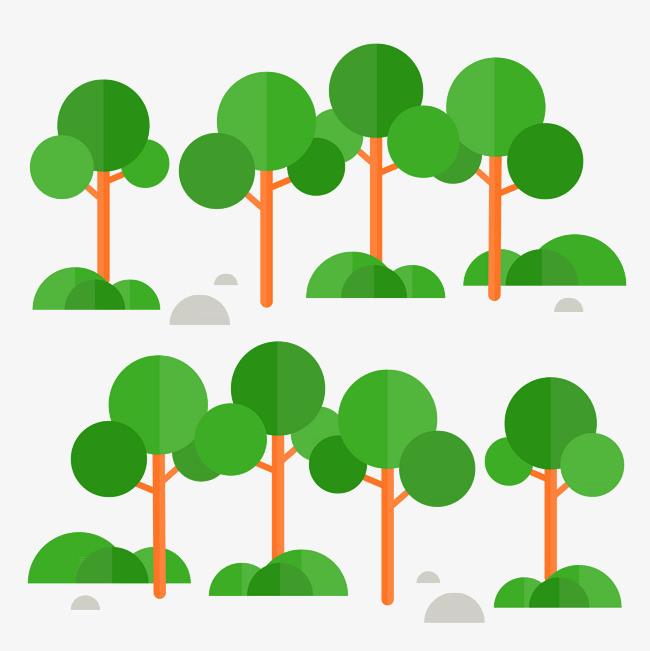 树木树丛png矢量素材