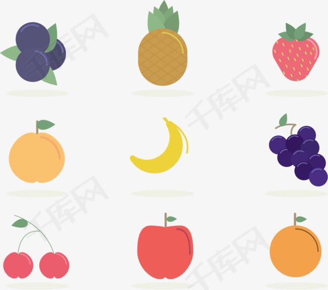 矢量手绘卡通水果素材图片免费下载 高清卡通手绘psd 千库网 图片编号6023652