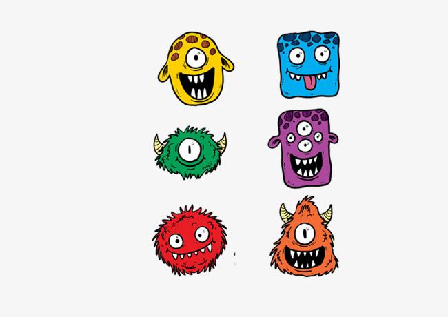 图片 > 【png】 怪兽表情包  分类:手绘动漫 类目:其他 格式:png 体积