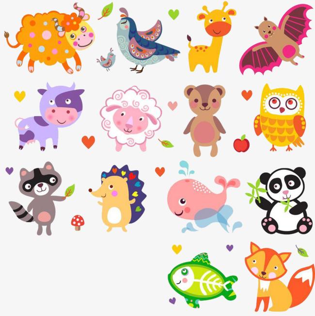 图片 > 【png】 卡通小动物集合  分类:手绘动漫 类目:其他 格式:png