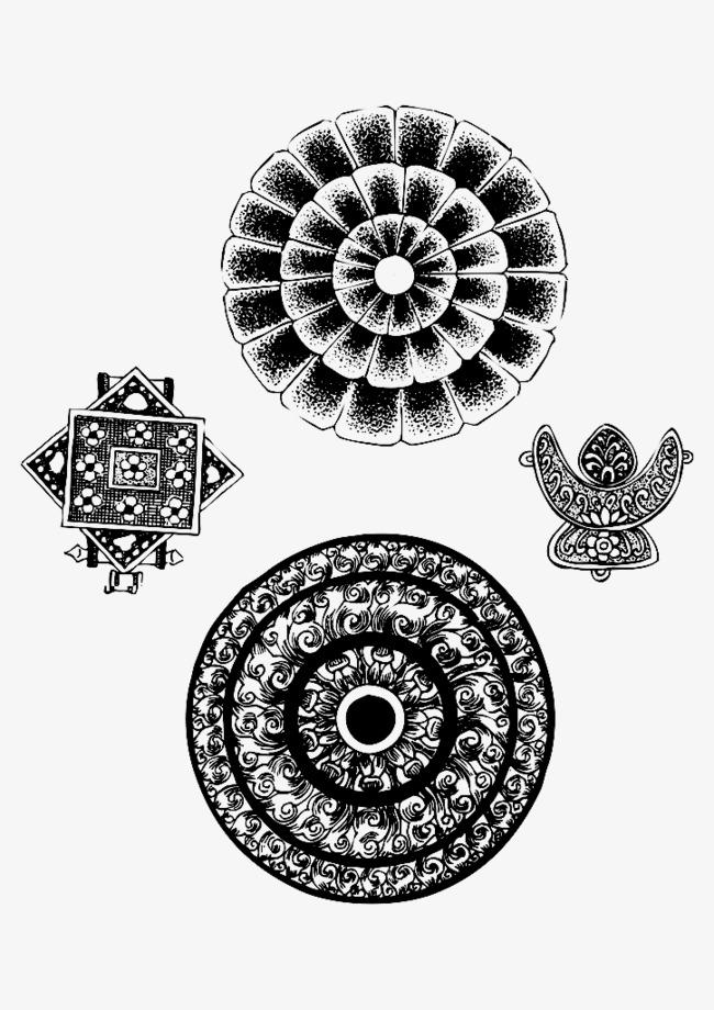 精美藏族花纹矢量素材图片免费下载 高清装饰图案psd 千库网 图片编