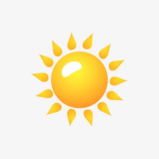 卡通可爱手绘小太阳素材