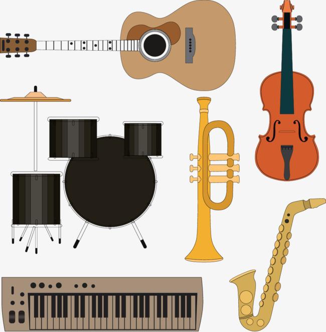 矢量手绘乐器