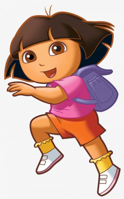 卡通手绘小女孩背书包