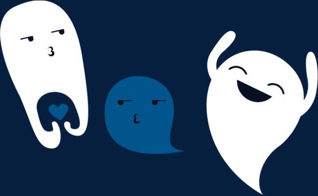 可爱卡通幽灵表情图片