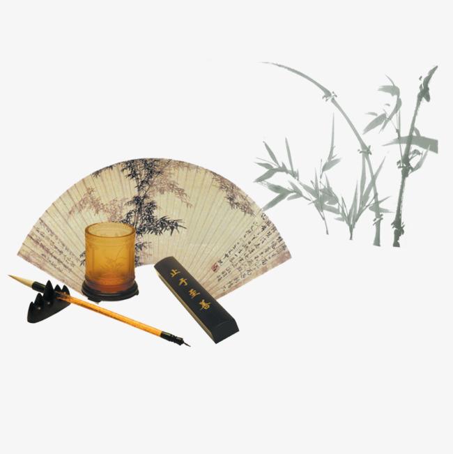 古风扇子画【高清装饰元素png素材】-90设计