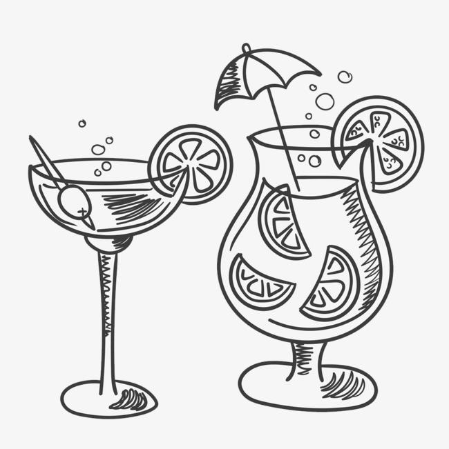 创意简笔画饮品杯图片