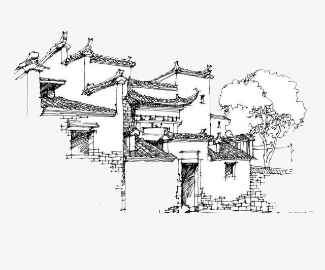 建筑物手绘