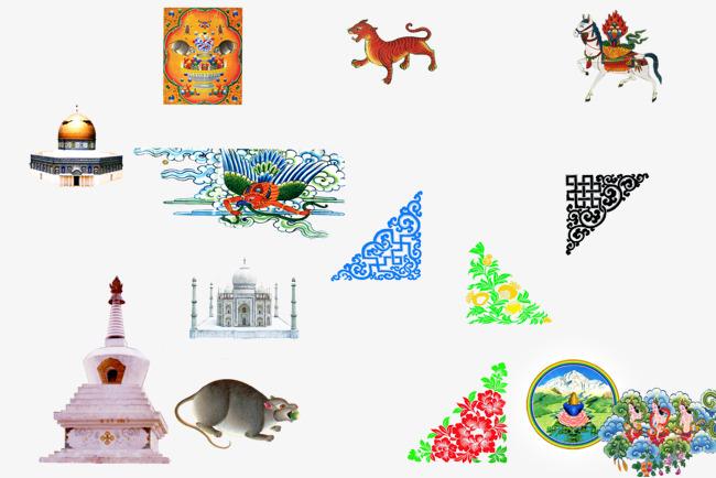 多种藏族元素藏族图案矢量素材图片免费下载 高清图片pngpsd 千库网