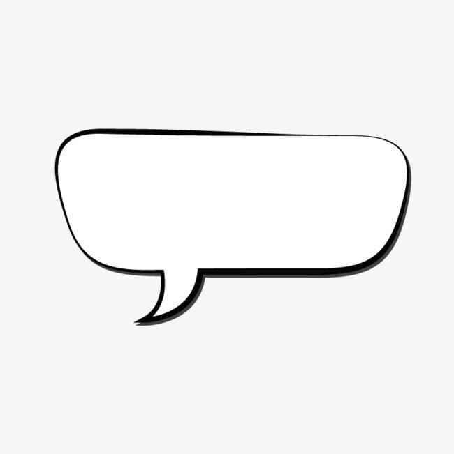 手绘简约对话框