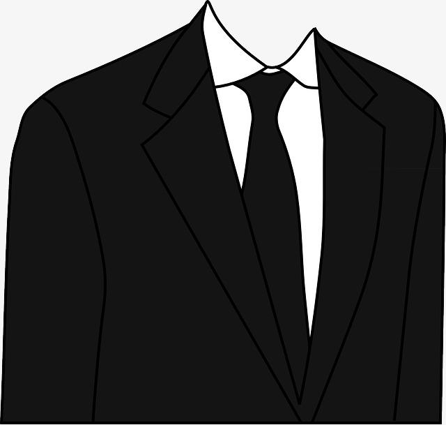 黑色手绘帅气西装