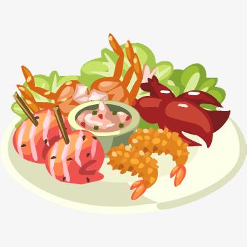 手绘卡通蔬菜海鲜素材图片免费下载 高清卡通手绘png 千库网 图片编号6092028