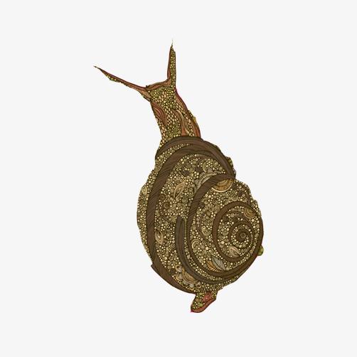 蜗牛手绘图免抠素材