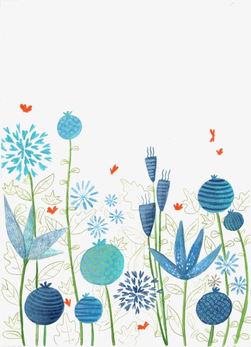 小清新植物水彩画背景素材图片免费下载 高清装饰图案png 千库网 图