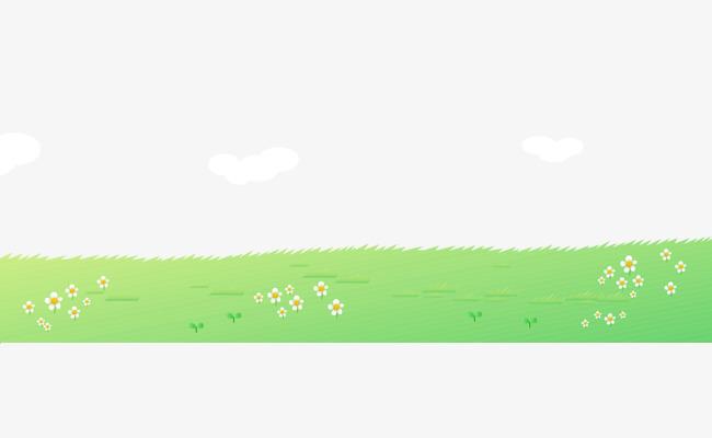 卡通手绘翠绿草地花朵卡通的草地手绘的花朵翠绿的草地漂亮的花朵
