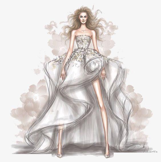 手绘美丽公主裙
