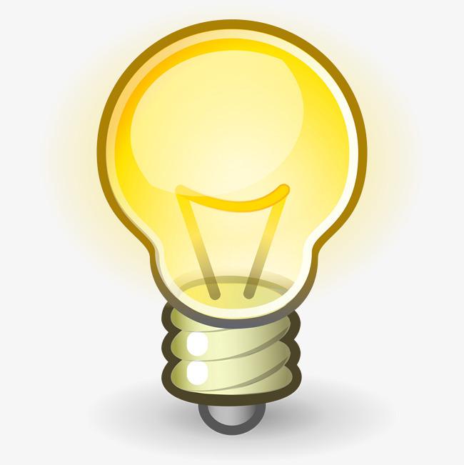 图片 > 【png】 黄色手绘卡通电灯泡  分类:产品实物 类目:其他 格式图片