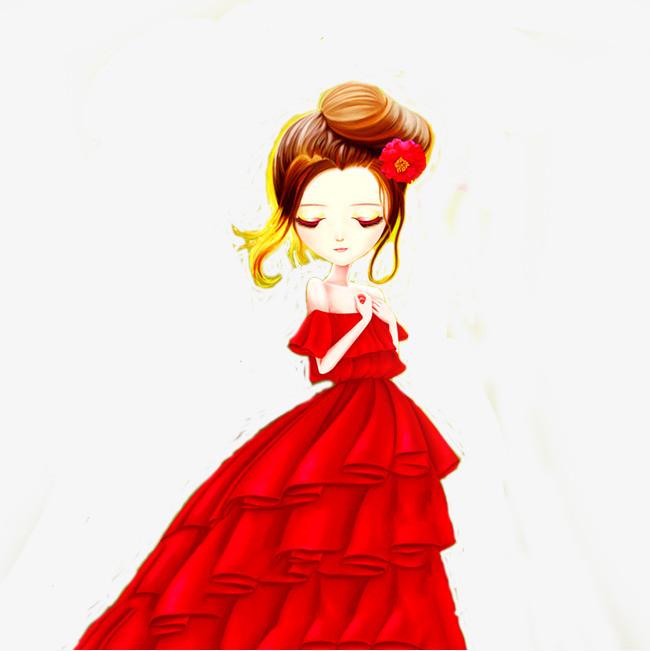 漂亮新娘子手绘唯美