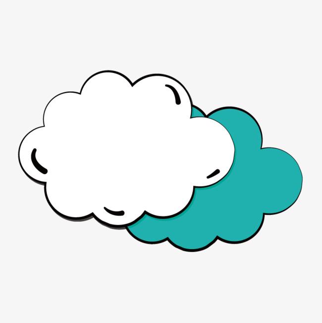 手绘云朵对话框