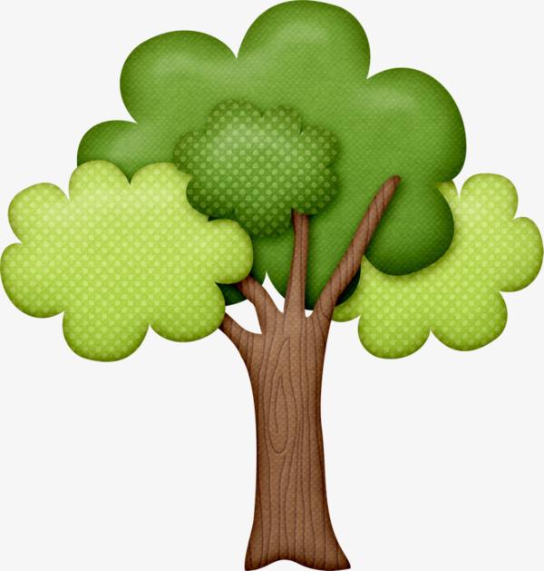 卡通手绘绿色大树