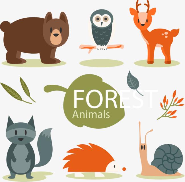 矢量手绘卡通动物