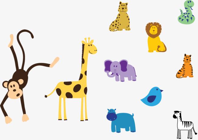 森林小动物矢量图