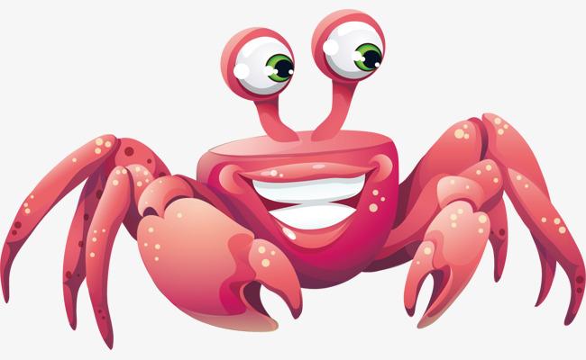 卡通手绘螃蟹