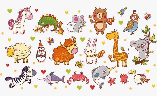 点击右侧免费下载按钮可进行 儿童画小动物png图片素材高速下载.