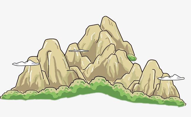 手绘地图中的假山绘画素材图片免费下载 高清卡通手绘psd 千库网 图片编号6114344图片