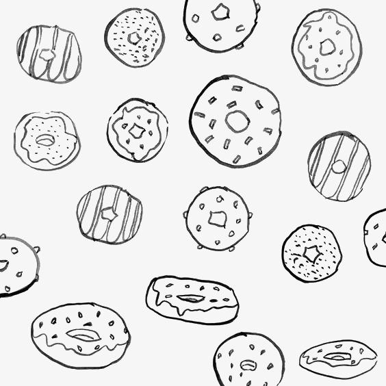 卡通甜甜圈