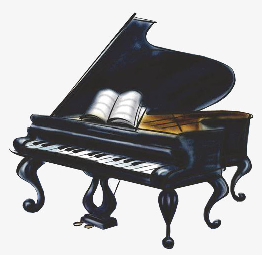 通复古手绘黑色钢琴素材图片免费下载 高清图片png 千库网 图片编号