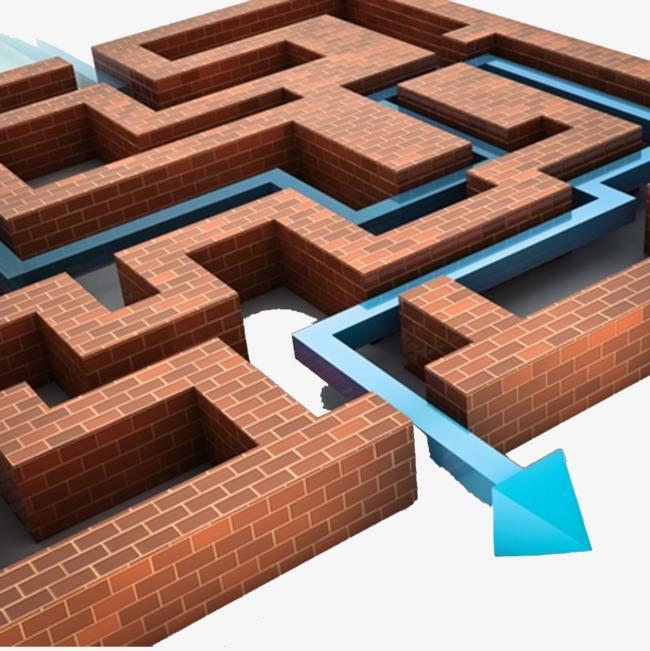 三维立体迷宫创意图片