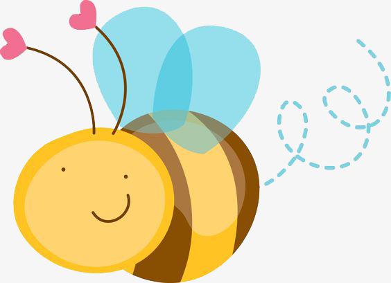 可爱小蜜蜂明了壳变透蜗牛图片
