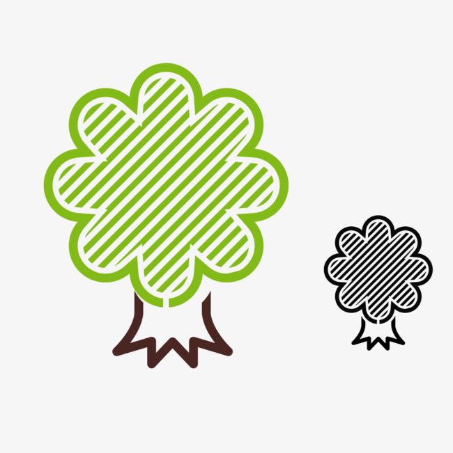 小清新树木简笔画