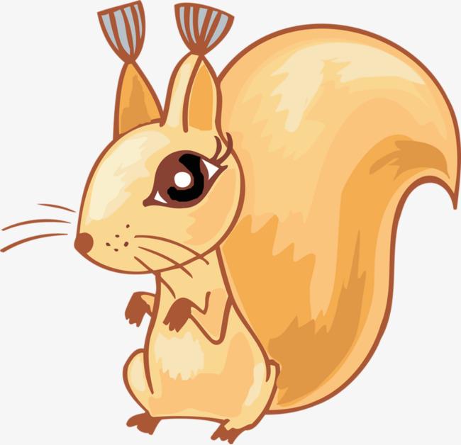 手绘可爱小松鼠