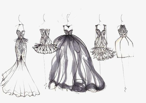 手绘裙子礼服 画法