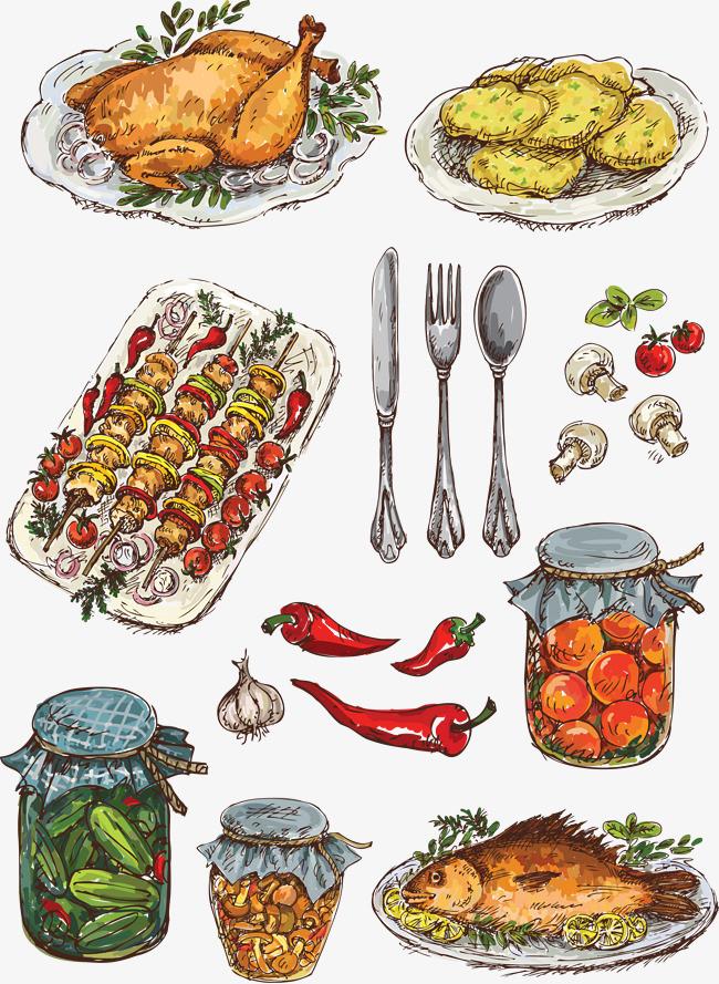 手绘食物【高清效果元素png素材】-90设计