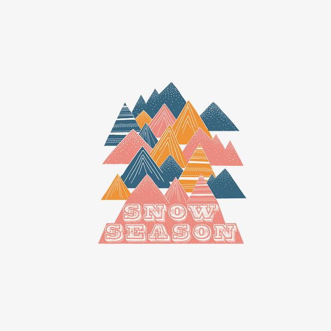 山峰手绘图