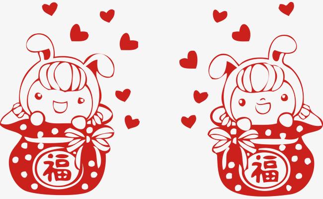 新年可爱福袋春节素材矢量图片
