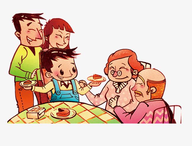 吃饭图片卡通图片