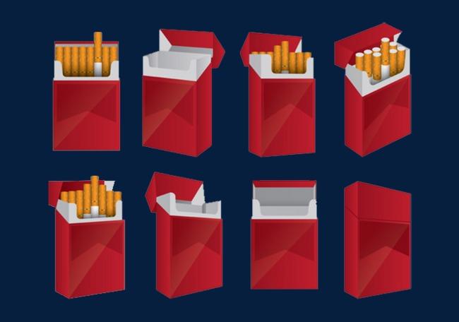 红色包装高级香烟