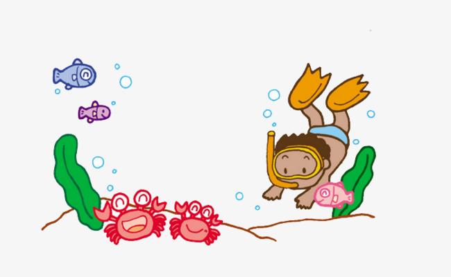 可爱 清新 唯美卡通 可爱 清新 唯美png免费下载 手机端:海底探险图片